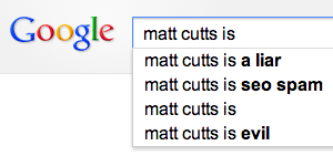 matt cutts Google suggest
