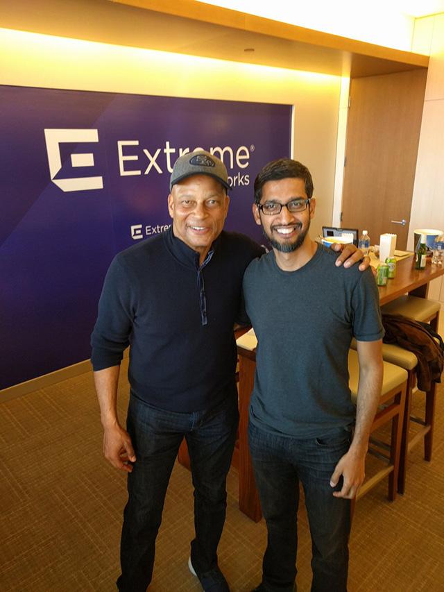 Google Sundar Pichai With NFL Ronnie Lott