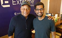 Google's CEO Sundar Pichai, Meets NFL's Ronnie Lott
