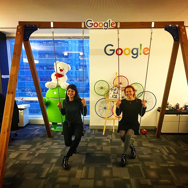 Google Indoor Swing Set