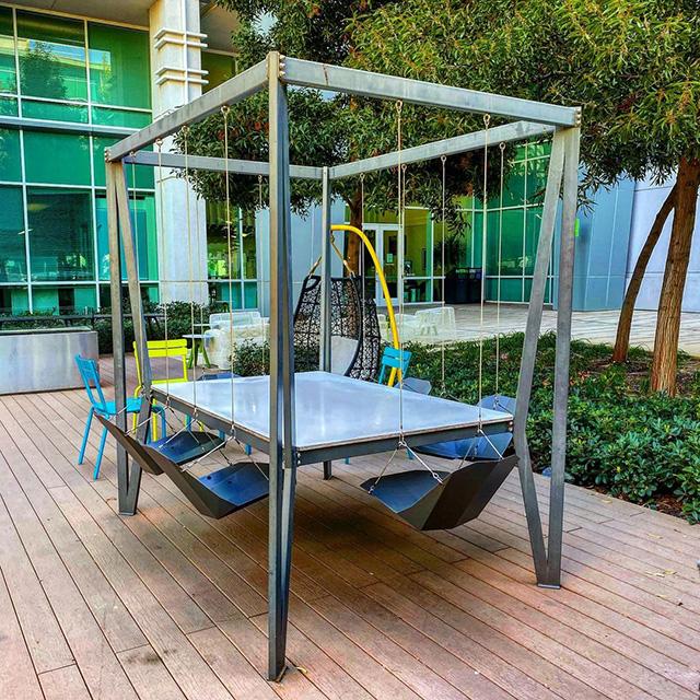 Google Swing Patio Table & Chairs