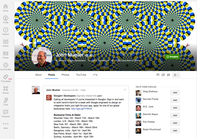 Google+ Taller Cover Profiles