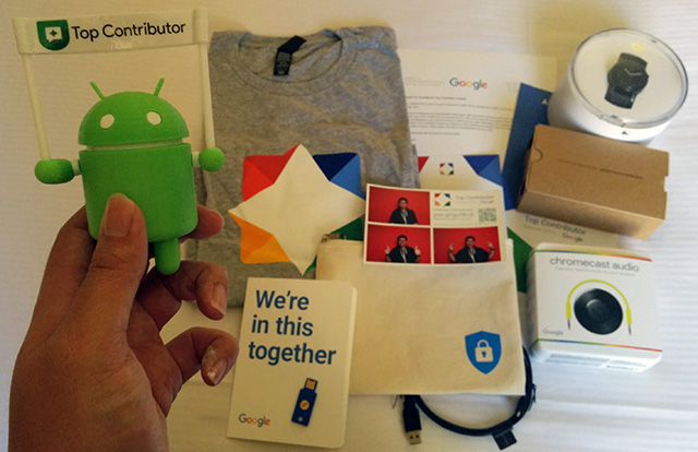 Google Top Contributor Summit Swag Bag