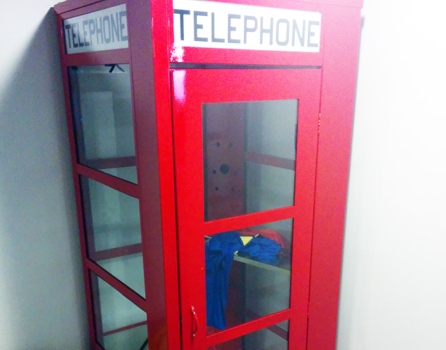 A Superman Suit In Google's Telephone Booth