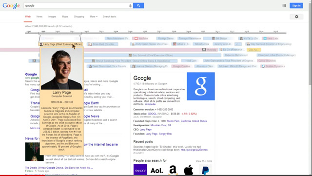 Google Timeline Knowledge Graph