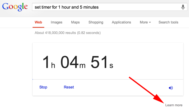 Google Timer Works