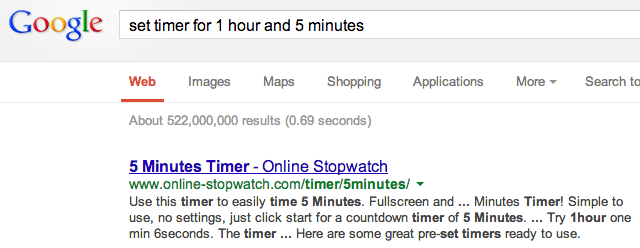 Google's Stopwatch Stops Ticking