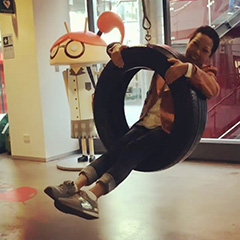 Google Indoor Tire Swing