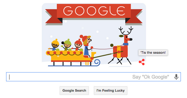 Google's Holiday Logo Goes With 'Tis The Season! Messaging