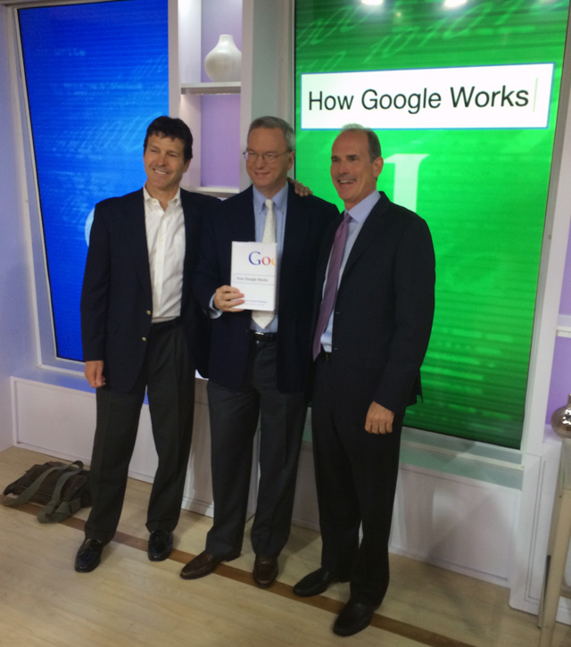 Google's Eric Schmidt, Jonathan Rosenberg & Alan Eagle On Today Show