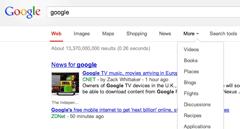 google top navigation feedback