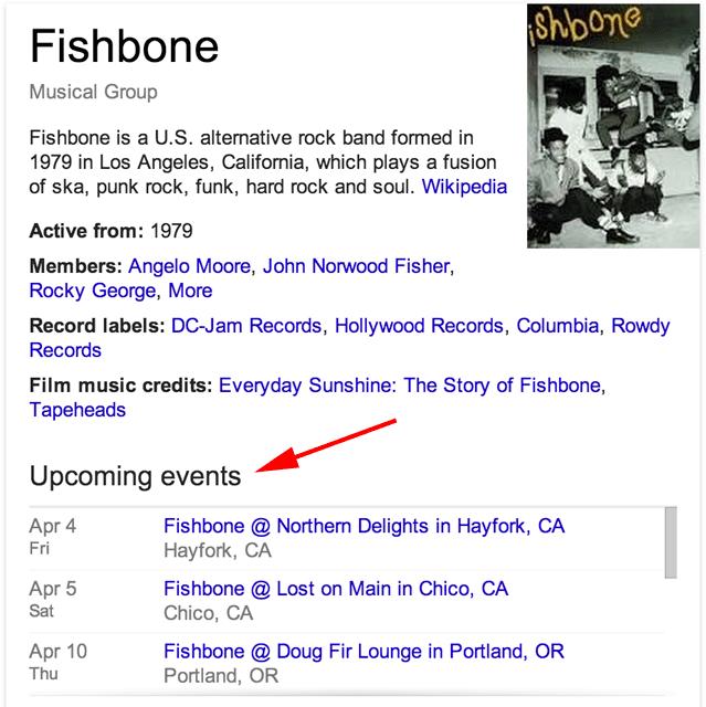 Google Concert Dates