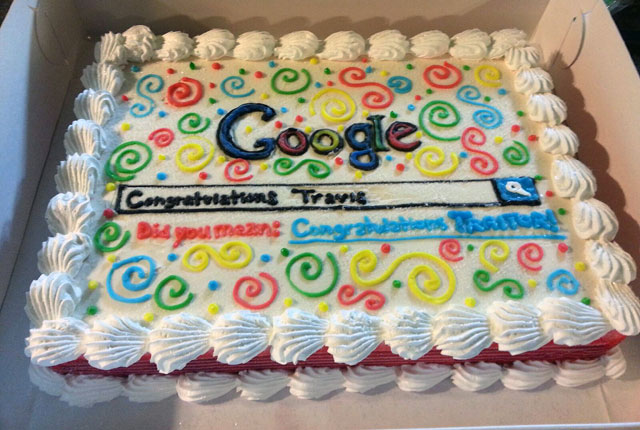Google Traitor Cake