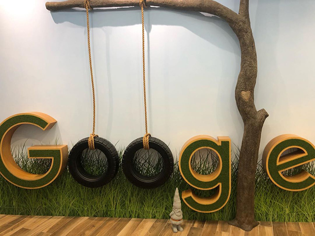 Google Tire Swing Tree Logo