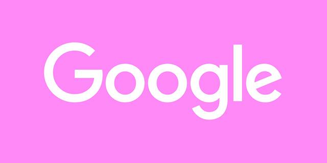 Pink Google Logo