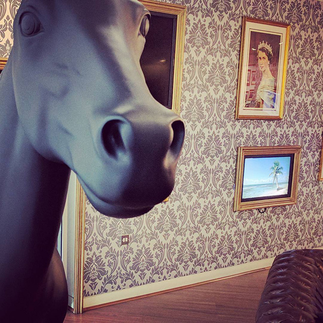 Google Vintage Office With Horse Statue