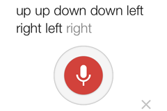 Google Easter Egg: Up, Up, Down, Down, Left, Right, Left, Right