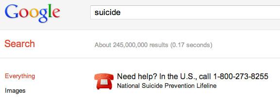 Google USA Suicide