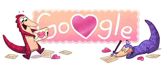 What Is A Pangolin - Google Valentine's Day Logo