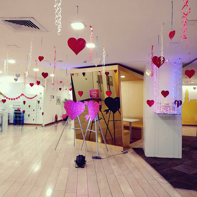Google India Valentine's Day Decorations