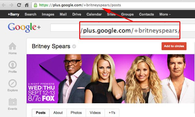 Google+ Custom URLs