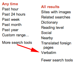 Google Verbatim