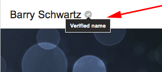 Google+ Verified