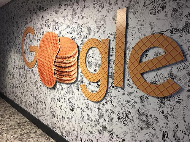 Google Waffle Logo Signage
