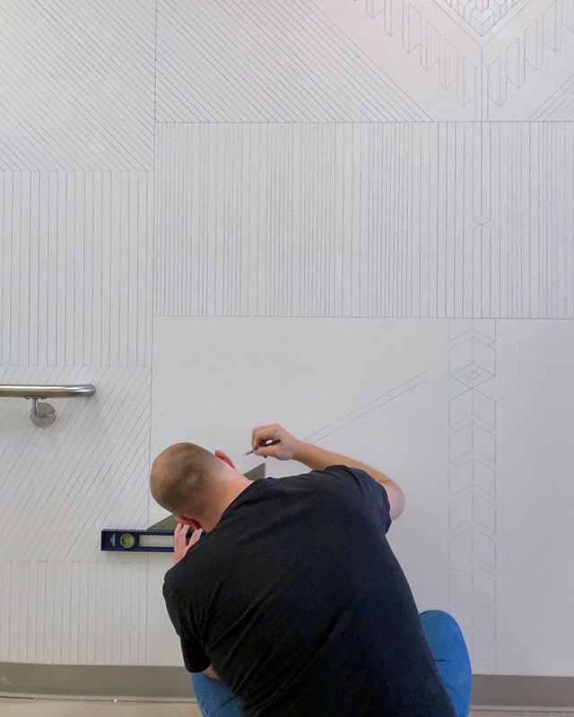 Google NYC Wall Line Art