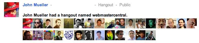 Google Webmaster Hangout