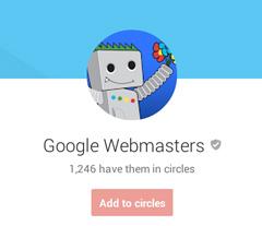 Google Webmasters Google+