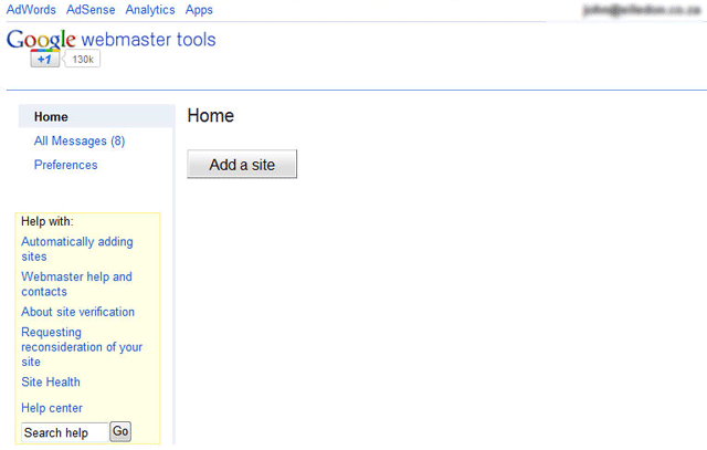 Google Webmaster Tools Fails Loading In Some Browsers