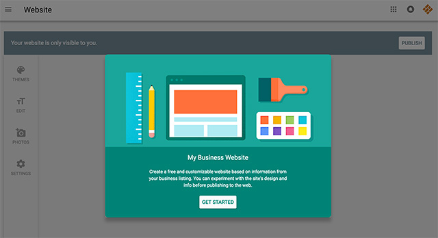 google my business launches website builder to all