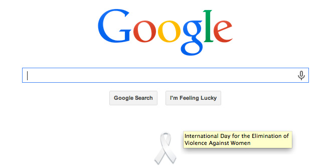 Google's White Ribbon For UN Women
