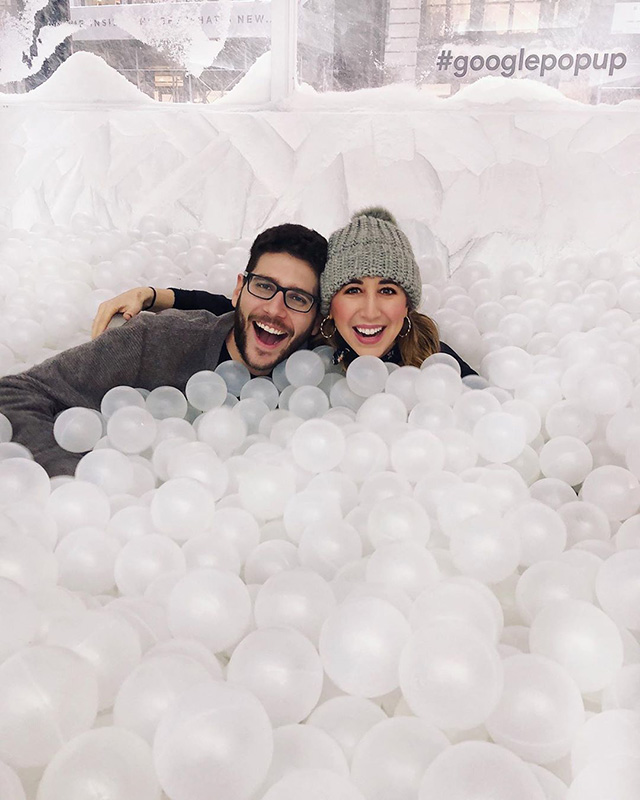 Google Winter Themed Ball Pit