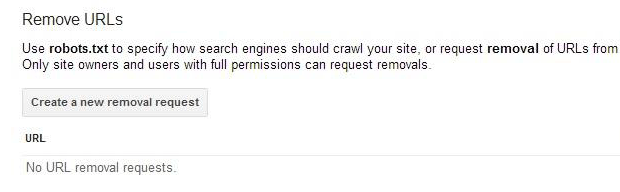 google removal url tool