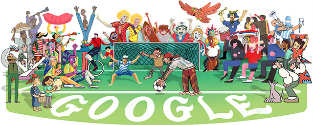 World Cup 2018 Google Logo