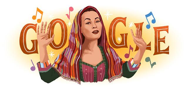 Google Doodle Celebrates Yma Sumac
