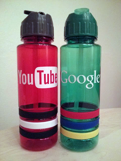 Google & YouTube Water Bottles