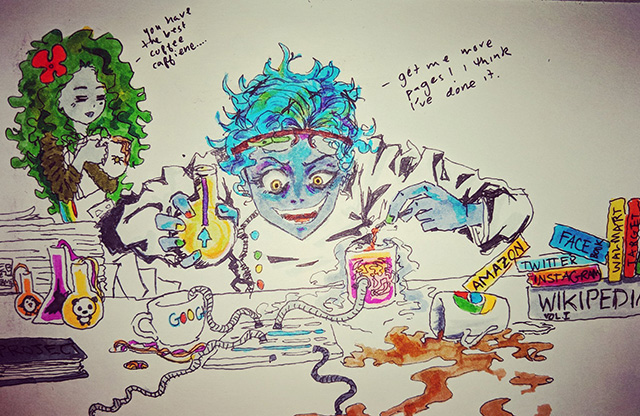 Googlebot Caffeine Fan Art From Alexis Sanders