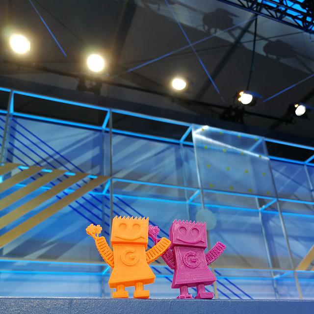 GoogleBot On The Google I/O Stage