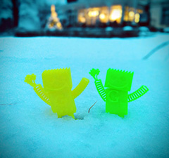 GoogleBots Playing In The Snow