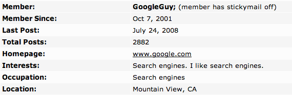 GoogleGuy Profile