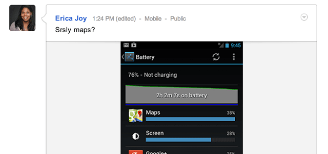 Google Maps Android Battery Usage