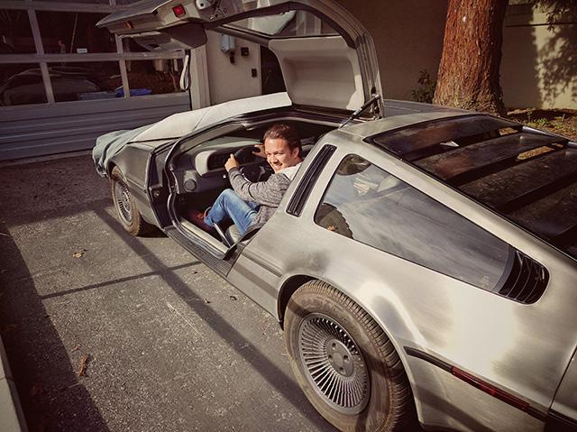 Googler Riding A DeLorean