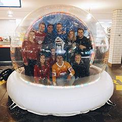 Googlers In A Snow Globe