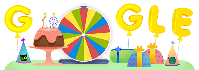Image result for google birthday surprise spinner