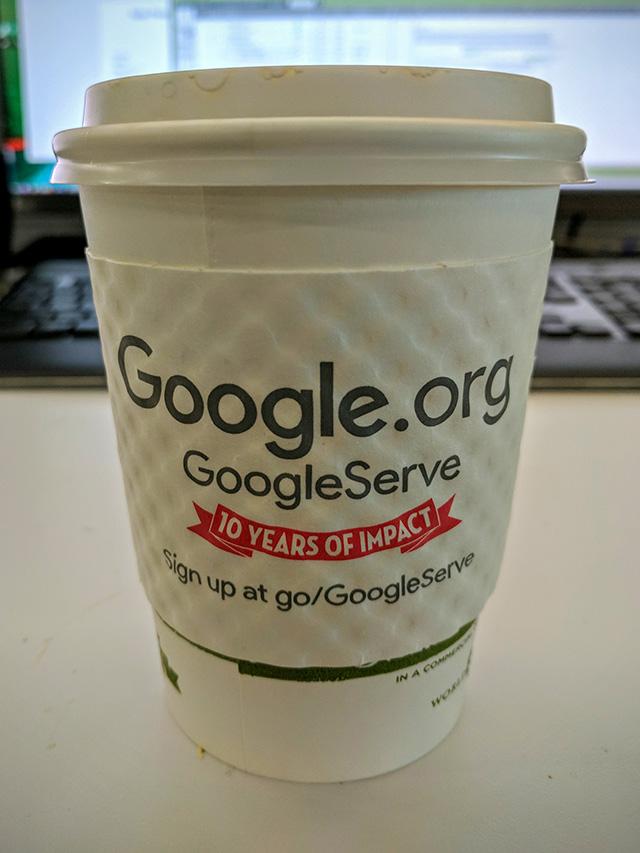 Google Serve Hot Cup