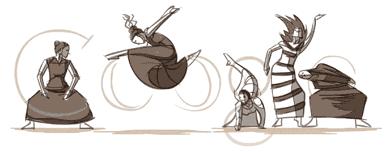 Google Martha Graham Dance Logo