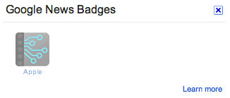 Gray Google News Badge